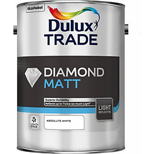 Dulux Diamond Matt Paint Light & Space Absolute White 5L