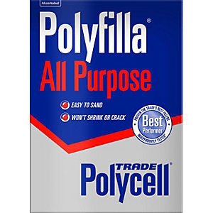 Polycell All Purpose Polyfilla Trade Powder Filler 2Kg - Carton of 6