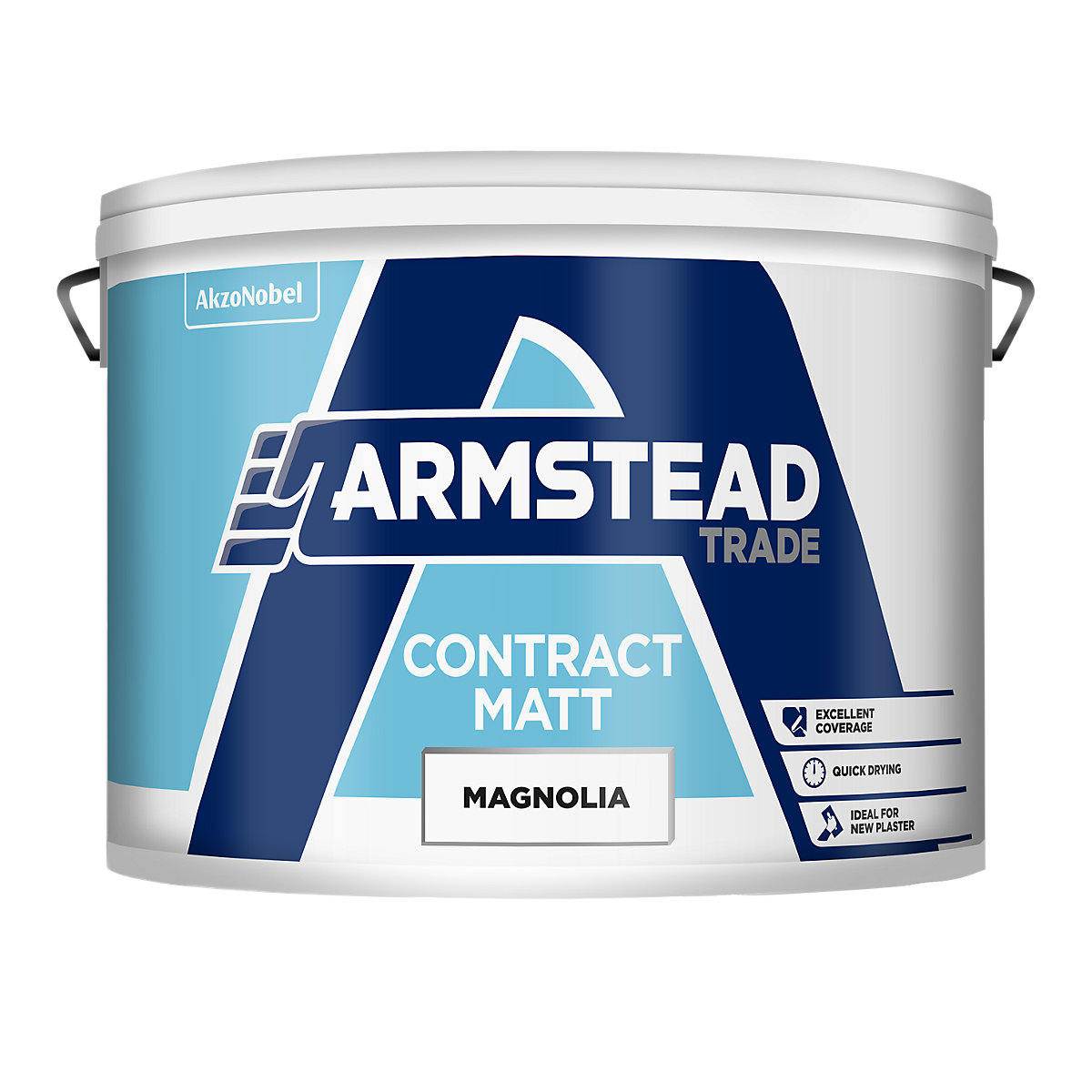 Armstead Trade Contract Matt Quick Drying Paint Magnolia 10L ...