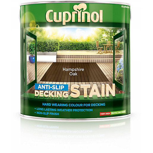 Cuprinol ANTI-SLIP Decking Stain Hampshire Oak 2.5L