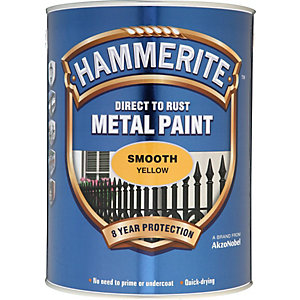 Hammerite Metal Paint Smooth Yellow 5L