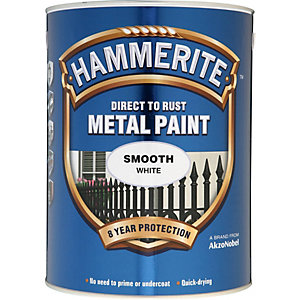 Hammerite Metal Paint Smooth White 5 Litre
