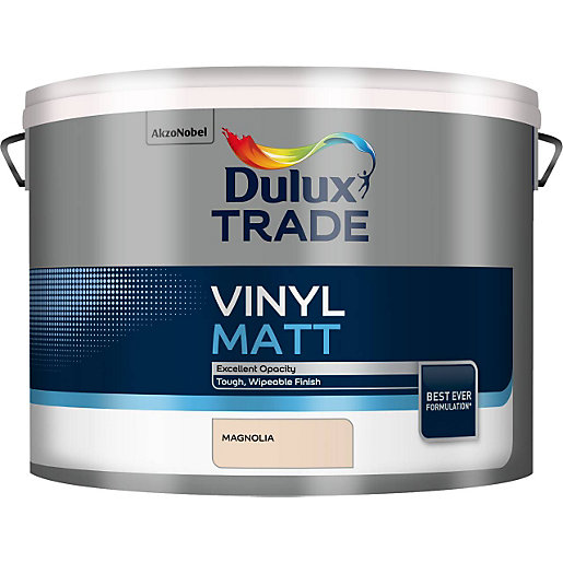 Dulux Trade Vinyl Matt Emulsion Paint Magnolia 10L