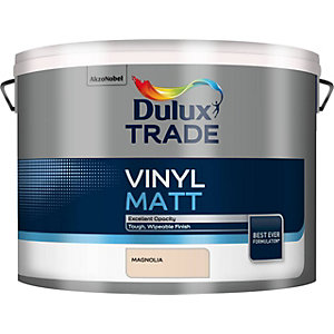 Dulux Trade Vinyl Matt Emulsion Paint Magnolia