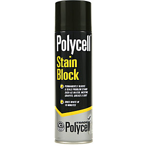 Polycell Trade Stain Block Aerosol White 500ml - Case of 10