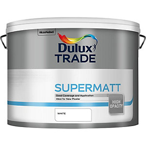 Dulux Trade Supermatt Emulsion White Paint - 10L 5091663