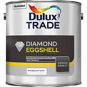 Dulux Trade Diamond Eggshell Paint Pure Brilliant White