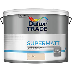 Dulux Trade Supermatt Emulsion Magnolia Paint - 10L 5091668