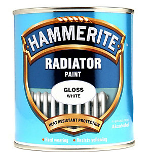 Hammerite Radiator Enamel Gloss White 500ml