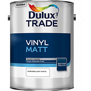 Dulux Trade Vinyl Matt Paint Pure Brilliant White