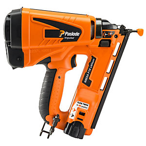 Paslode Li-ion Gas Powered Cordless Second Fix Angled Brad Finishing Nail Gun IM65A