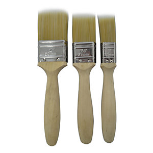 4Trade Synthetic Paint Brush 3 Pack