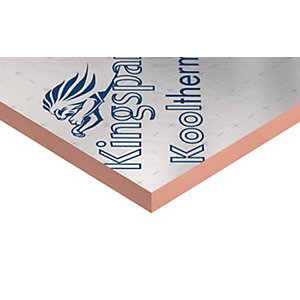 Kingspan Kooltherm K7 Phenolic Pitched Roof Insulation Board 75mm x 2400mm x 1200mm (2.88m²/Sheet)