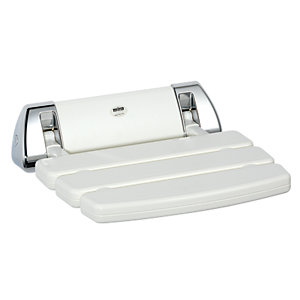 Mira Shower Seat Hinged White/Chrome 2.1536.129