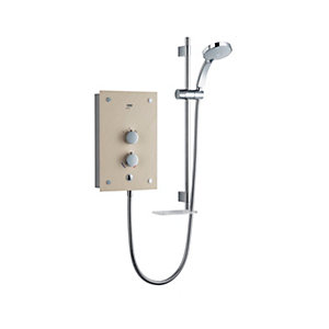 Mira Galena Thermostatic Electric Shower Light Stone 9.8kW 1.1634.084