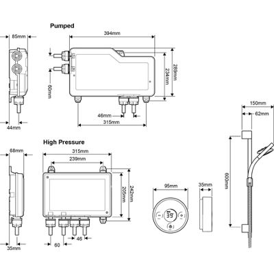 Mira Platinum BIV for HP/Combi Systems (Rear Fed Water Supply)