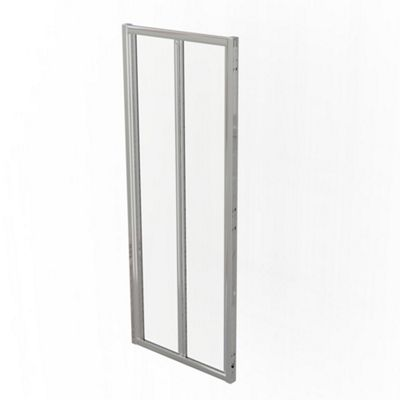 Kudos Infinite Centre Folding Door Silver 1000mm