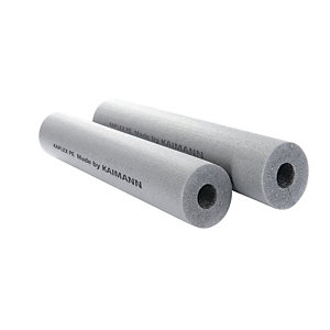 Nitrile Pipe Insulation 28mm x 25mm Section 2m Length Slit Class 0