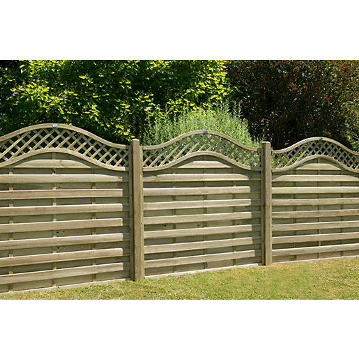 Forest Garden Europa Prague Pressure Treated Fence Panel 1800mm x 1800mm - 6 ft x 6 ft