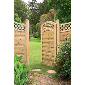 Europa Prague Pressure Treated Timber Curved Gate 1800mm x 900mm