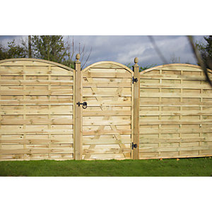 Europa Curved Pressure Treated Timber Gate 1790mm x 1000mm