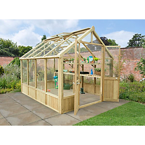Vale Pressure Treated Greenhouse 3048mm x 2438mm