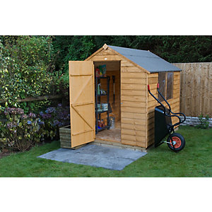 Overlap Dip Treated Apex Shed 8 ft x 6 ft