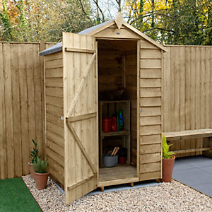 Overlap Pressure Treated Apex Shed No Windows 1219mm x 914mm