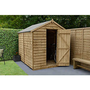 Overlap Pressure Treated Apex Shed No Windows 8 ft x 6 ft