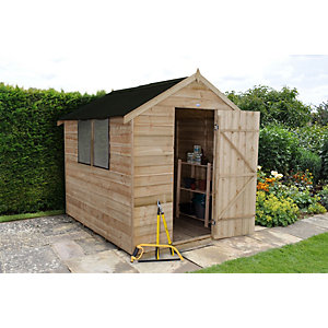 Overlap Pressure Treated Apex Shed With Onduline Roof 8 ft x 6 ft