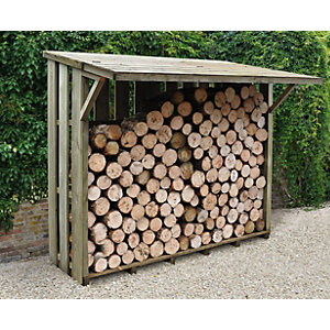 Flip Roof Log Store Large Pressure Treated 1900mm x 2120mm x 1170mm