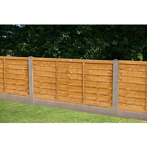 Forest Garden Trade Lap Dip Treated Fence Panel 1830 mm (W) x 1220mm (H) - 6 ft x 4 ft (Minimum Order Qty of 2)