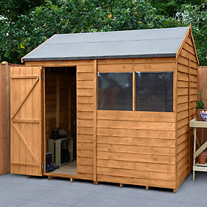 Overlap Dip Treated Reverse Apex Shed 8 ft x 6 ft