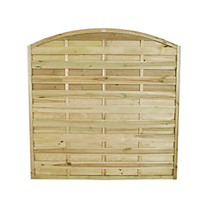 Europa Domed Pressure Treated Fence Panel 1800mm x 1800mm - 6 ft x 6 ft
