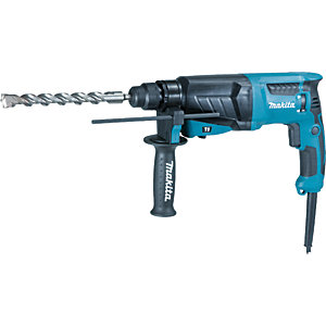 Makita 240V Corded SDS-Plus 3 Mode Rotary Hammer Drill One Touch Chuck HR2630/2