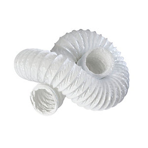 Iflo PVC Flexible Ducting White 100mm x 3000mm