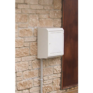 Mitras Surface Mounted Gas Meter Box With Backplate and Cover MK2 - White