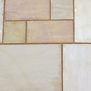 Marshalls Standard Indian Sandstone Calibrated Slab Buff Multi 560mm x 560mm x 22mm