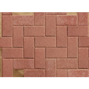 Marshalls Standard Concrete Block Paving Red 200mm x 100mm x 50mm PV1053500