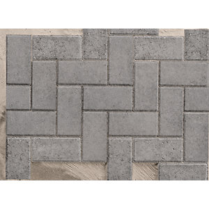 Marshalls Standard Concrete Block Paving Charcoal 200mm X 100mm X 50mm Pv1053250 (minimum Order Qty Of 50)