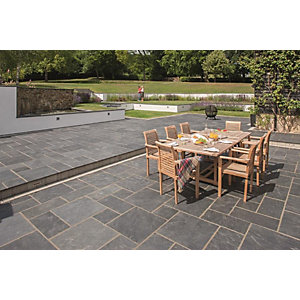 Marshalls Natural Slate Midnight Blue Paving