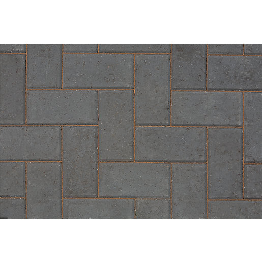 Marshalls Keykerb Large Half Battered External Angle Charcoal