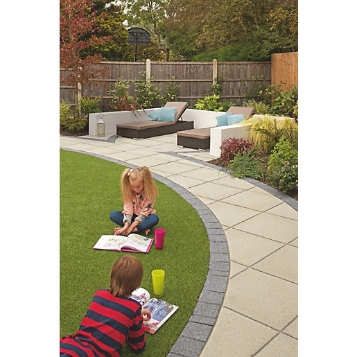 Marshalls Saxon Textured Paving Slab Natural 450mm X 450mm X 35mm Fl4500500
