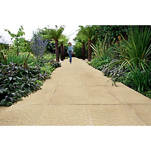 Marshalls Saxon Paving Slab Buff 450mm X 450mm X 35mm Fl4501000
