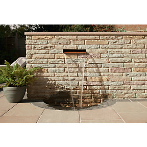 Marshalls Fairstone Pitched Walling Autumn Bronze 300mm x 100mm x 65mm