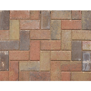 Marshalls Driveline 50 Ochre Block Paving Burnt - 200mm x 100mm x 50mm