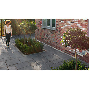Marshalls Fairstone Limestone Patio Project Pack Charcoal 16.76m2