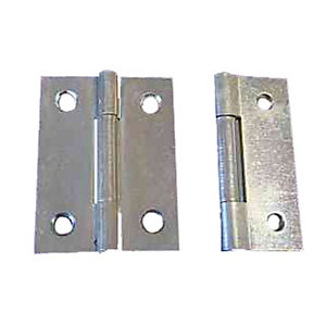 4Trade Fixed Pin Butt Hinge Zinc Plated 50mm Pack of 2