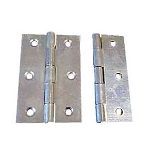 4Trade Fixed Pin Butt Hinge Zinc Plated 63mm Pack of 2