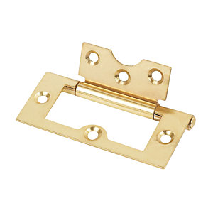 4Trade Flush Hinge Electro Brass 60mm Pack of 2